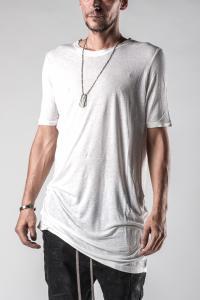 Manuel Marte Elongated Folded Hem Short Sleeve T-shirt