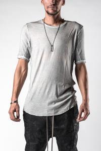 Manuel Marte Cold Dyed Curved Hem Short Sleeve T-shirt