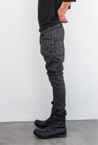 VERSUCHSKIND low crotch waxed jeans