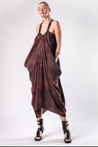 Masnada Long Draped Cross Back Dress