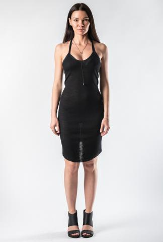 Alessandra Marchi Ribbed Jersey Short Dress