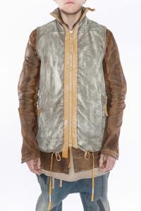Boris Bidjan Saberi PADDED VEST5.1 Waxed Gum Dyed Padded Jacket
