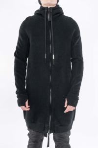 Boris Bidjan Saberi ZIPPER3.1 Long Zipped Hoodie Cotton/Wool