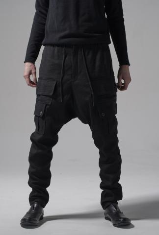 Devoa Drop Crotch Cargo Pants