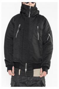 11byBBS J17 Mid length padded hooded jacket