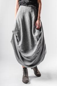Un-Namable Elastic Waistband Long Pleated Skirt