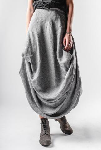 Un-Namable Elastic Waistband Long Pleated Skirt