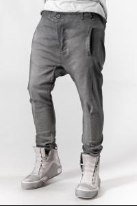 Boris Bidjan Saberi P11 Faded Dark Grey Tapered Trousers