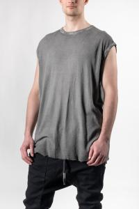 Boris Bidjan Saberi ONE PIECE TANK REGULAR FIT Faded Dark Grey Sleeveless T-shirt