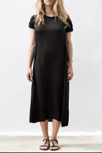 UMA WANG UK5405 Y00E5.999 BLACK KNIT DRESS