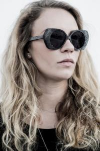 RIGARDS Black plastron sunglasses