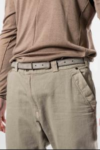 Devoa Textured Cow Leather Belt