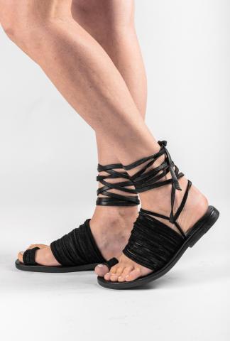 Dimissianos & Miller Daktyle Strappy Multi-lace Sandals