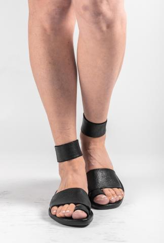 Dimissianos & Miller Daktylo Leather Sandals with Ankle Strap