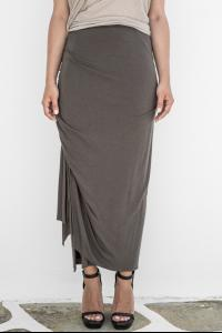 Rick Owens Lillies Bias Cut Draped Wrap Skirt