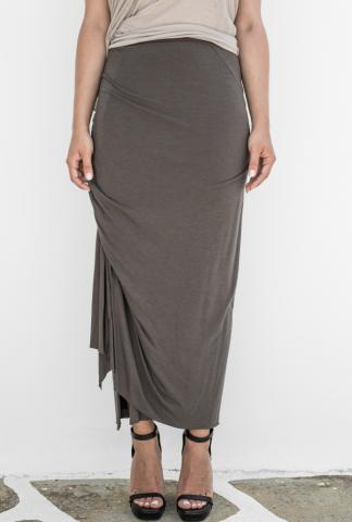 Rick Owens Lillies Bias Cut Draped Wrap Skirt