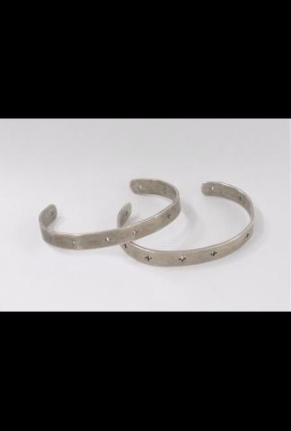 M.A+ Silver Cross Cut Out Bracelet
