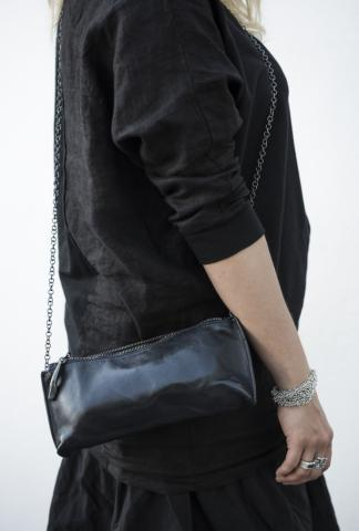 SIMONA TAGLIAFERI H CHAIN POCHETTE LEATHER