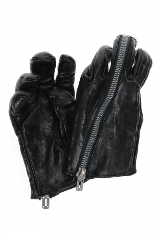 D.HYGEN Horse Leather ZIP Gloves