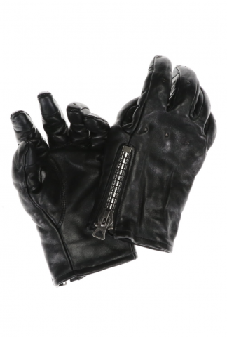 D.HYGEN Horse Leather Nail ZIP Gloves