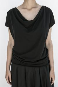 Poeme Bohemien Draped Short Sleeve T-shirt