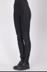 Isabel Benenato Jersey and stretch leather leggings