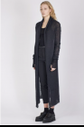 Isabel Benenato Silk and mohair long knit cardigan with pin