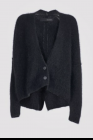 Isabel Benenato Mohair V neck buttoned crop cardigan knit