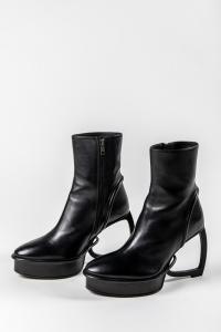 Ann Demeulemeester Curve Heeled Boots