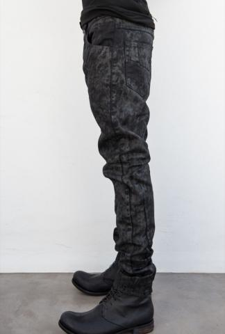 VERSUCHSKIND tapered waxed knit jeans