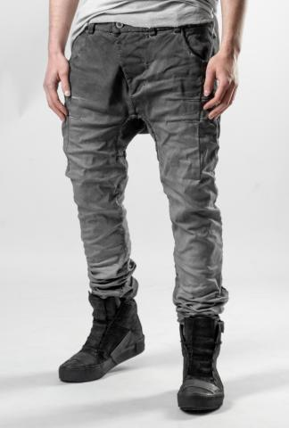 Boris Bidjan Saberi P13 HS TIGHT FIT 16H HAND STITCHED Faded Dark Grey Jeans