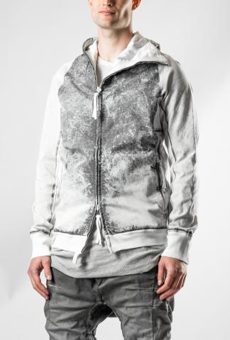 Boris Bidjan Saberi HYBRID ZIPPER 2.1 FLAT STITCH SEAM TAPED Ninja Hoodie