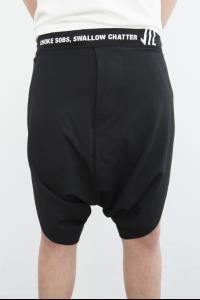 Niløs 580PAM13 Printed Waistband Sarouel Shorts