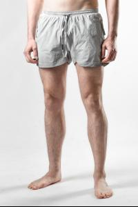 Boris Bidjan Saberi SWIM1 Resin Dyed Faded Light Grey Swim Shorts