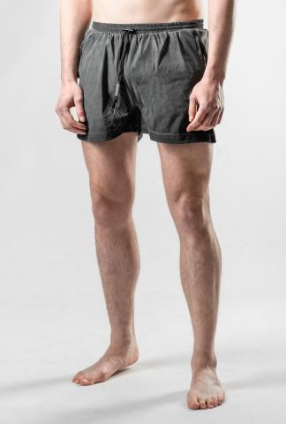 Boris Bidjan Saberi SWIM1 Resin Dyed Faded Dark Grey Swim Shorts