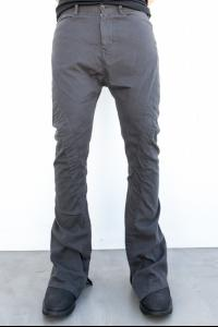 Julius_7 577PAM17 Diagonal Wrap Around Boot-cut Trousers