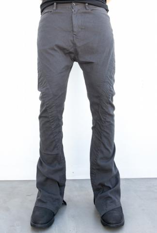 Julius_7 577PAM17 Diagonal Wrap Around Boot-cut Trousers