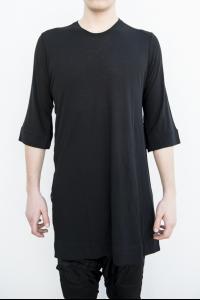 Julius_7 577CUM19 Elongated Side Slit Short Sleeve T-shirt
