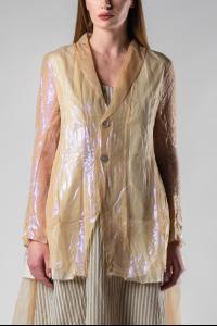 A Tentative Atelier Jonquill Translucent Silk and Metal Blend Blazer