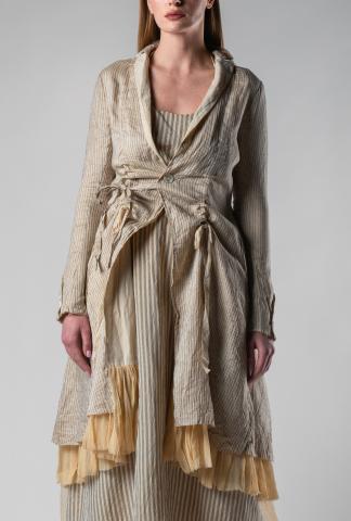 A Tentative Atelier Jonnis Pleat Layered Adjustable Coat