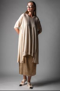 Uma Wang Short Sleeve Knitted Cashmere Dress
