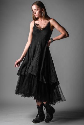 Marc Le Bihan Tulle Layered Silk Dress