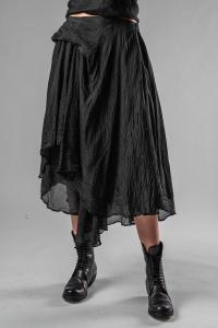 Marc Le Bihan Layered Asymmetric Draped Silk Skirt