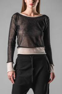Isabel Benenato Double Layered Knitted Long Sleeve T-shirt