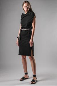 M.A+ Hooded Long Slip Dress