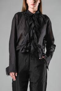 Alessandra Marchi Front Pleated Long Shirt