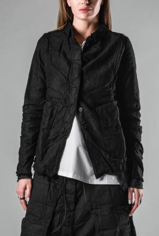 Rundholz Mesh Layered Crumpled Jacket