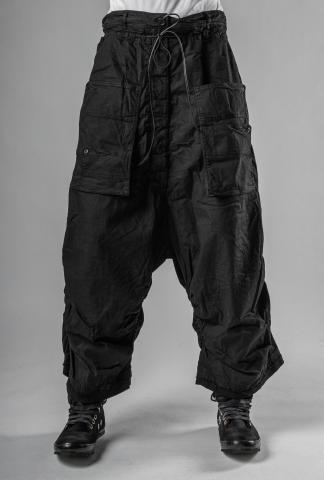 Rundholz Pleated Hem Baggy Cargo Trousers