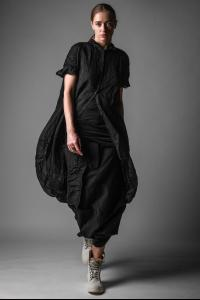 Rundholz Buttoned Voluminous Short Sleeve Coat