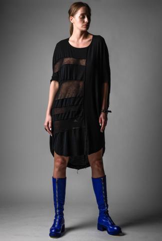 Rundholz Mesh Paneled T-shirt Dress